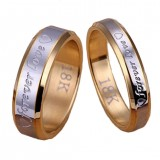Chic Couple Ring Men/Women Forever Love 18K Gold Silver Steel Wedding Engagement Band Rings Jewelry Gift