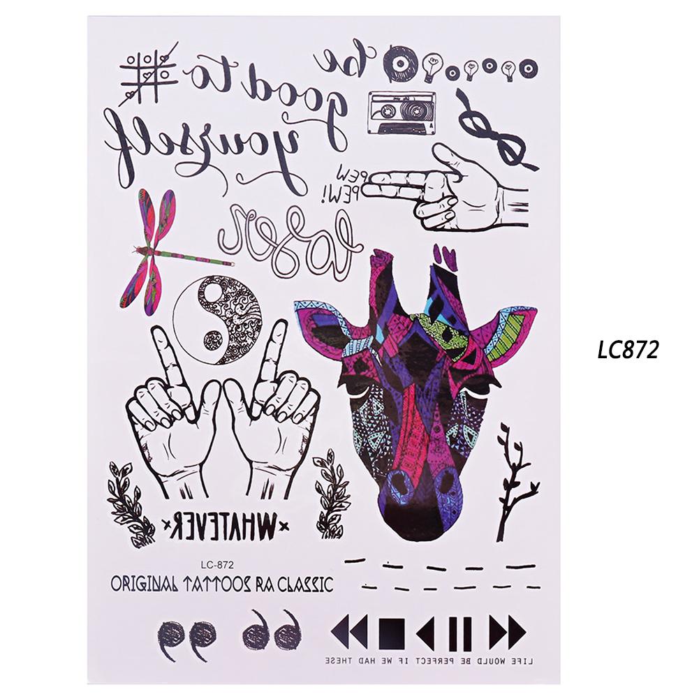 1 Sheet Gradient Colorful Beauty Decal Waterproof Body Art Temporary Glitter Tatoo Sticker Tool 210*150mm