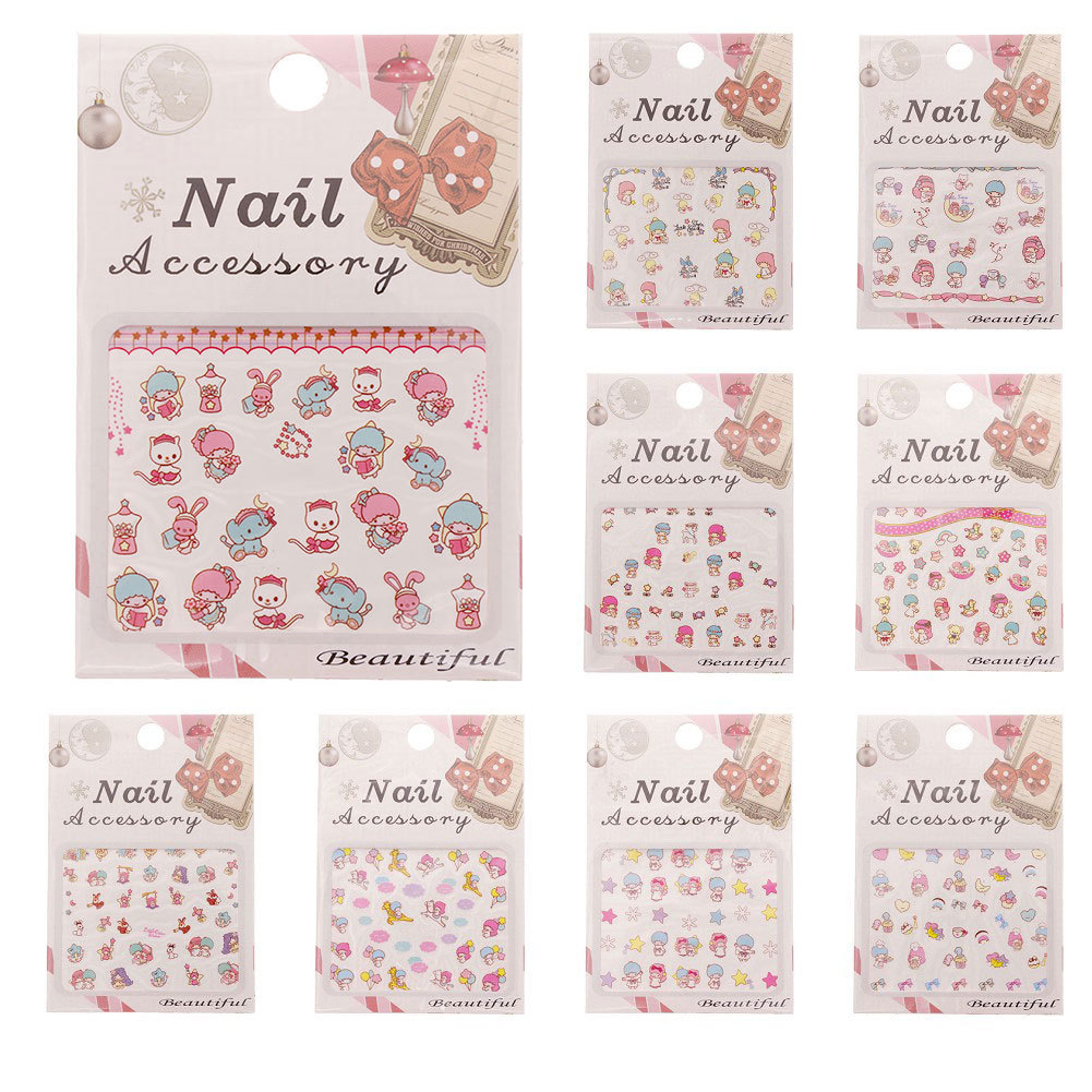 1 Sheet Cartoon Nail Watermark Nail Beauty Nail Tools Art Water Transfer Sticker Watermark Decals Manicure Wraps Decoration