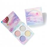HANDAIYAN 4 Colors Eye Shadow Pressed Glitter Makeup Palette Shimmer Matte Pigmented Glitter Eyeshadow Cosmetics