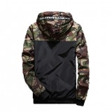 Men's Fashion Camouflage Coat Hoodies Casual Jacket Clothing Windbreaker Male Outwear M-5XL