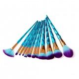 4pcs Trendy Foundation Eyebrow Eyeliner Face Eyeliner Blush Diamond Powder Cosmetic Concealer Makeup Brushes Set Hot
