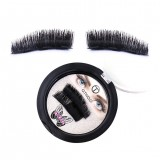 O.TWO.O 1 Pair 3D Magnetic Eyelashes 3D Handmade Mink Reusable Triple Natural Soft Hair Magnet False Eyelashes