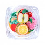 1 Box 5G 3D Mixed Nail Art Nail Tips Polymer Clay Slices Cute Cartoon Cake Flower Fruit Decoration Wheel Manicure