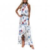 Womens Holiday Ladies Maxi Long Dress Sleeveless Summer Print Beach Dresses