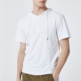 Men's Casual Long/Short-Sleeve Slim-Fit Sweatershirt Hoodie Shirt