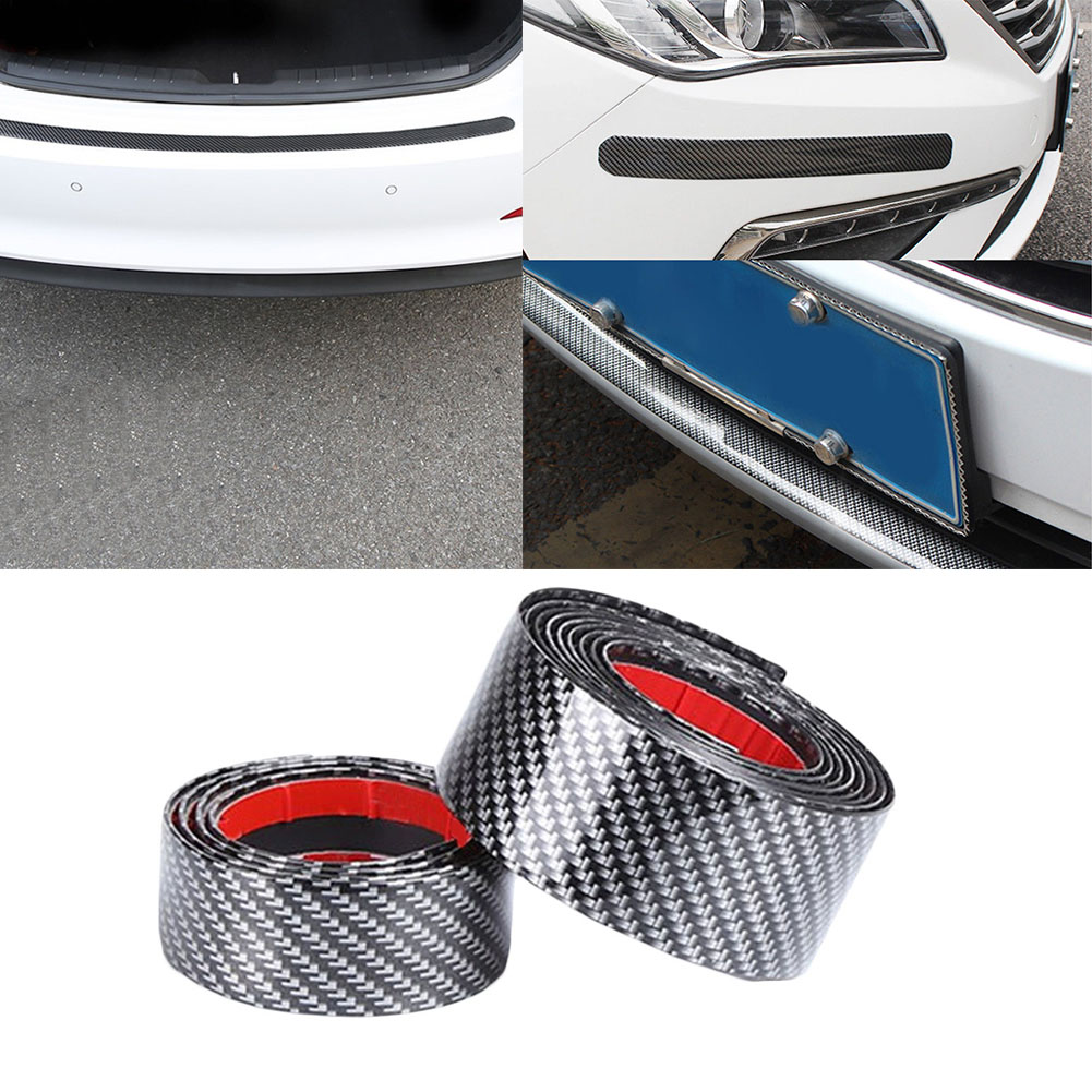 1M Car Sticker Carbon Fiber Rubber Door Sill Protector Edge Guard Strip L1