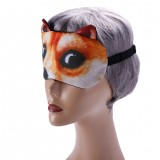 3D Funny Animals Pattern Sleeping Eye Mask Soft Black Eye Shade Bandage for Travel Rest