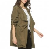 Women Warm Hooded Long Coat Jacket Ladies Trench Windbreaker Parka Outwear Lady