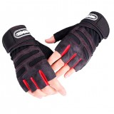Gloves Men Weight Lifting Gym Gloves Training Fitness Wrist Wrap Workout Exercise Sports