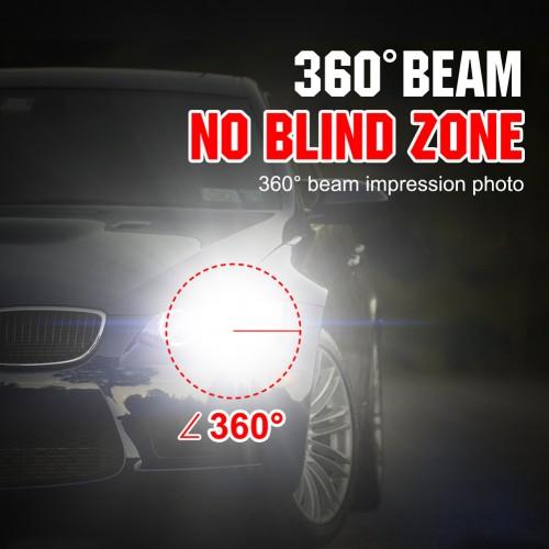 1Pc H4 72W 16000LM LED Headlight Car Auto Hi/Lo Beam Bulbs 6000K White