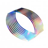 16Pcs PVC 10/12/14/18 inches Wheel Rim Tape For Motorcycle Car Reflective Stripes
