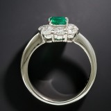 Jade Engagement Ring Emerald Gem Ring Big Diamond Zircon Ring Fashion Rhinestone Luxury Jewelry Gift For Women