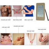 12 Mode EMS Tens Unit LED Screen Smart Health Electronic Acupuncture Massager Therapy Device Pulse Massager Gold