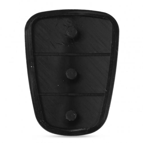 Car Key Shell Replacement Rubber Button Pad Fit For Hyundai Solaris Accent Tucson l10 l20 l30 Kia Rio Ceed Flip Remote