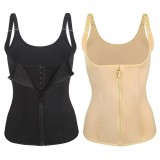 Women Fashion Body Slimming Girdle Tummy Trimmer Push Up Top Zipper Waist Trainer Cincher Slim Corset Vest