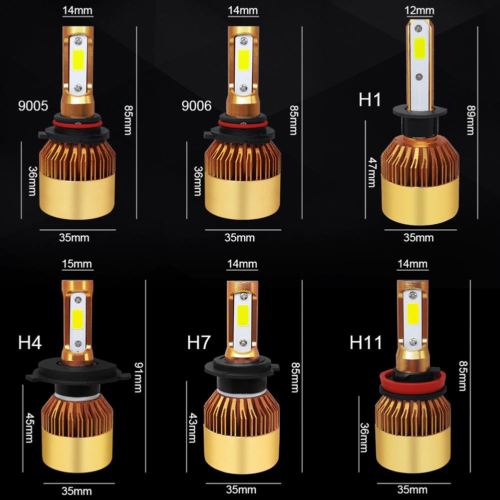 2Pcs H4/H7/H11/41/9006/9005 72W 16000LM LED Headlight Car Auto Hi/Lo Beam Bulbs 6000K White