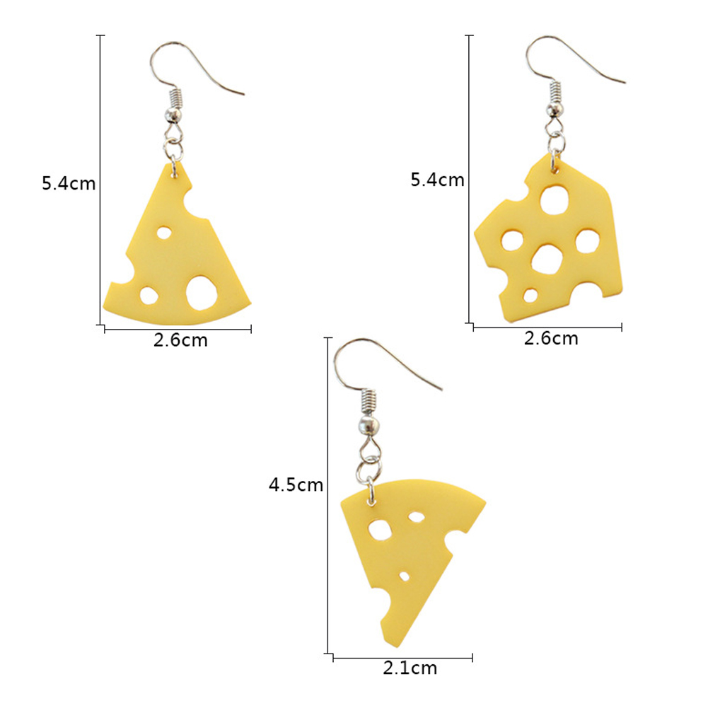 1 Piece Cream Cheese Shape Pendant Earring Creative Simulated Food Ear Hoop Funny Jewelry Accessory Gift For Women Girls