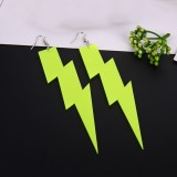 Large Exaggerated Acrylic Lightning Pendant Earring Fluorescent Light Night Club Party Jewelry Accessory Gift For Women Girls