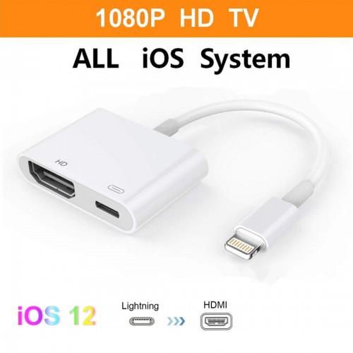 E-Gin-LTH-002 8 Pin Digital AV to HDMI Adapter + USB Charging Port for VGA 1080P HD TV Display Screen Device