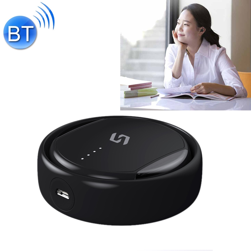 TS02 Bluetooth 4.2 Mini Invisible Sport Headset Bluetooth Earphone (Black)
