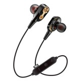 MG-G23 Portable Sports Bluetooth V5.0 Bluetooth Headphones with 4 Speakers (Black)