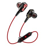 MG-G23 Portable Sports Bluetooth V5.0 Bluetooth Headphones with 4 Speakers (Red)