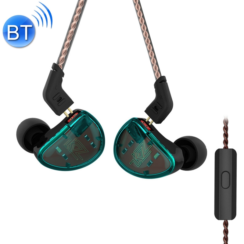 KZ AS10 Ten Unit Moving Iron In-ear Bluetooth HiFi Earphone with Microphone (Cyan)