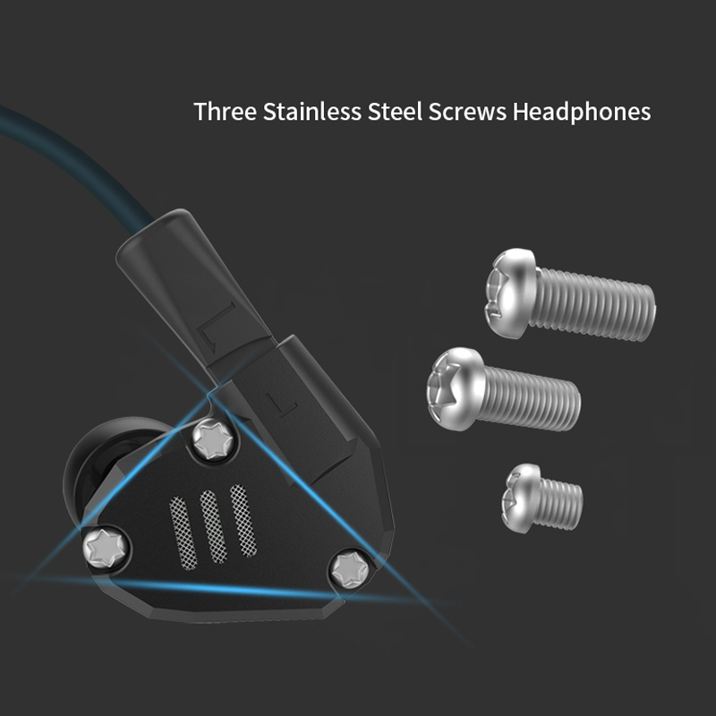 KZ ZS6 Eight Unit Circle Iron Aluminum Alloy In-ear HiFi Earphone without Microphone (Black)