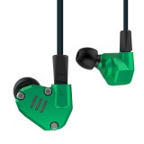 KZ ZS6 Eight Unit Circle Iron Aluminum Alloy In-ear HiFi Earphone without Microphone (Green)