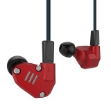 KZ ZS6 Eight Unit Circle Iron Aluminum Alloy In-ear HiFi Earphone without Microphone (Red)