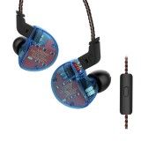 KZ ZS10 Ten Unit Circle Iron In-ear Mega Bass HiFi Earphone with Microphone (Blue)
