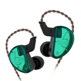 KZ AS06 Six Unit Moving Iron Universal Wired Control In-ear Earphone without Microphone (Cyan)