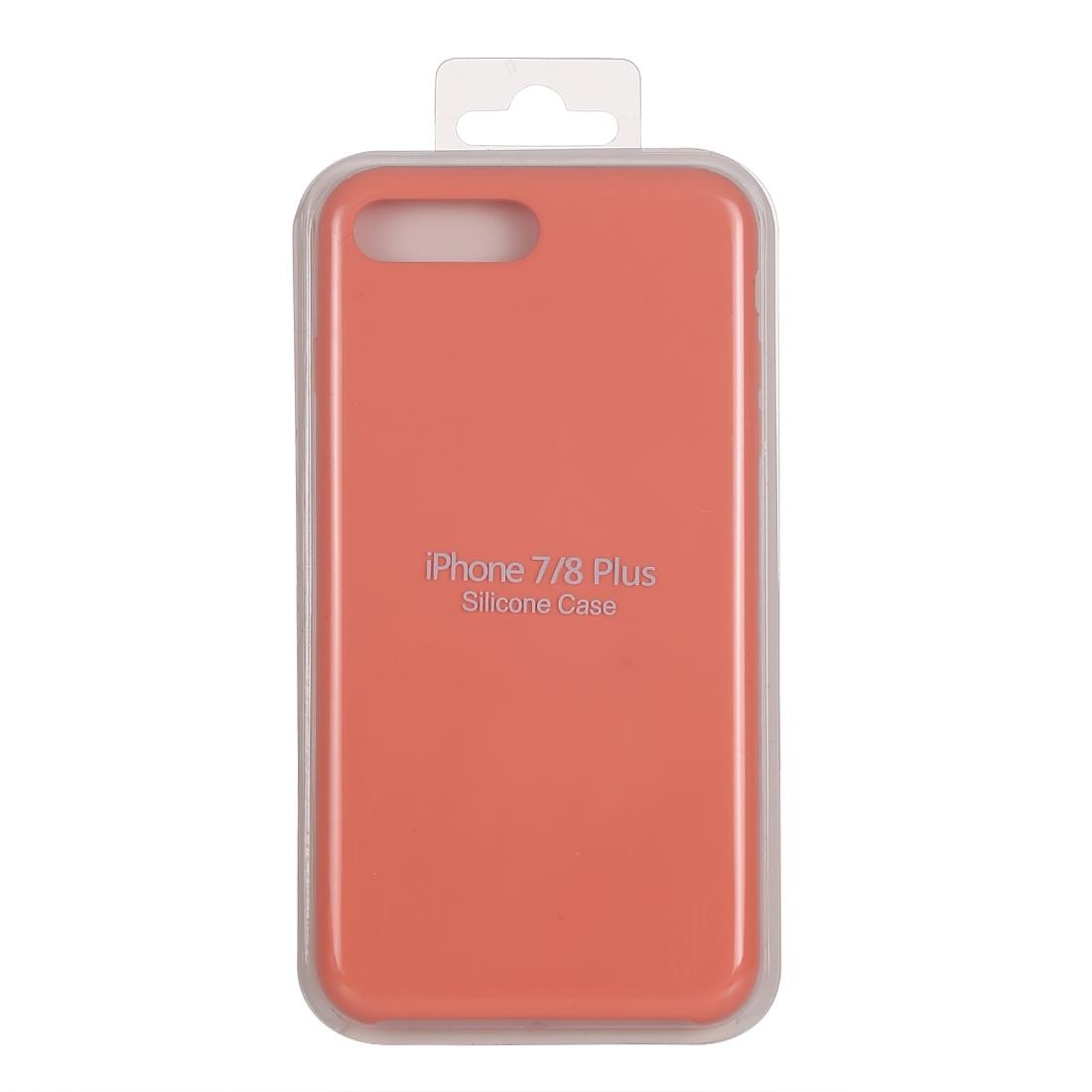 reputable site bc598 008e1 Pure Color Liquid Silicone Case for iPhone 8 Plus & 7 Plus (Light Orange)