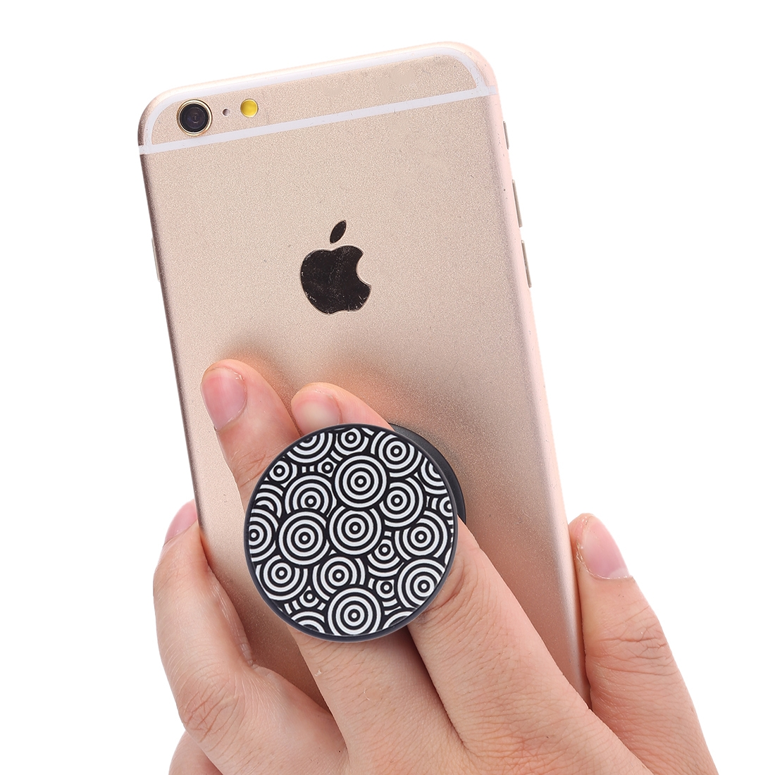 Multi-Function Abstract Pattern Universal Phone Holder Expanding Stand Grip Clamp Rope Stand for Smartphones