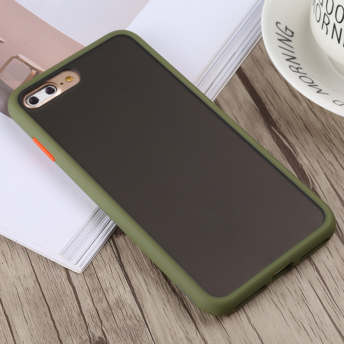TOTUDESIGN Gingle Series II Shockproof TPU+PC Case for iPhone 8 Plus & 7 Plus (Army Green)