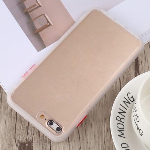 TOTUDESIGN Gingle Series II Shockproof TPU+PC Case for iPhone 8 Plus & 7 Plus (White)