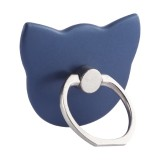 100 PCS Universal Cat Shape 360 Degree Rotatable Ring Stand Holder for Almost All Smartphones (Navy Blue)