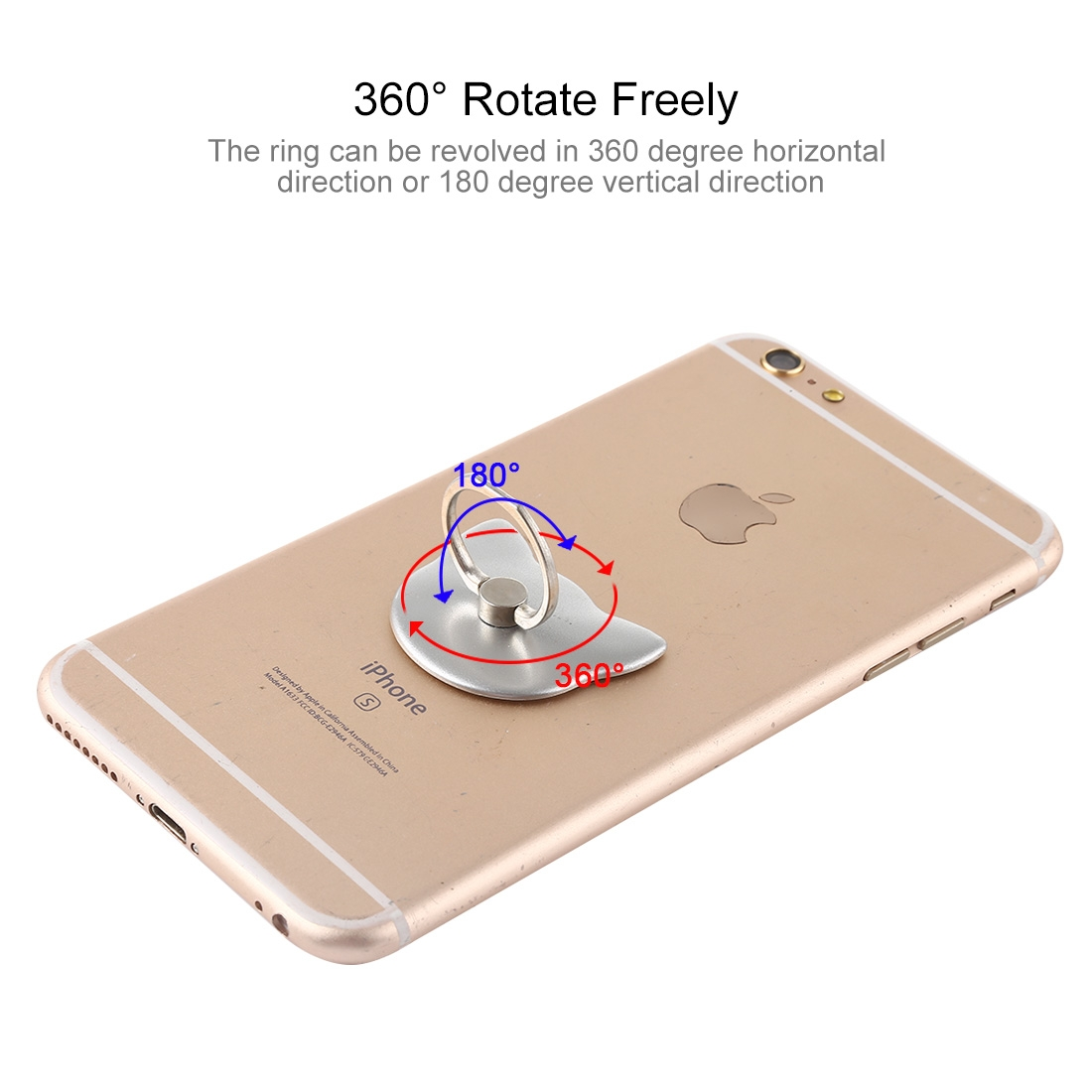 100 PCS Universal Cat Shape 360 Degree Rotatable Ring Stand Holder for Almost All Smartphones (Silver)