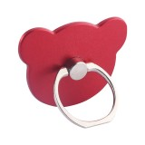 100 PCS Universal Panda Shape 360 Degree Rotatable Ring Stand Holder for Almost All Smartphones (Red)