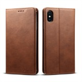 Suteni Calf Texture Horizontal Flip Leather Case for iPhone XS Max with Holder & Card Slots & Wallet (Coffee)