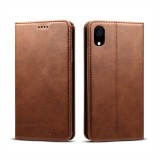 Suteni Calf Texture Horizontal Flip Leather Case for iPhone XR with Holder & Card Slots & Wallet (Coffee)