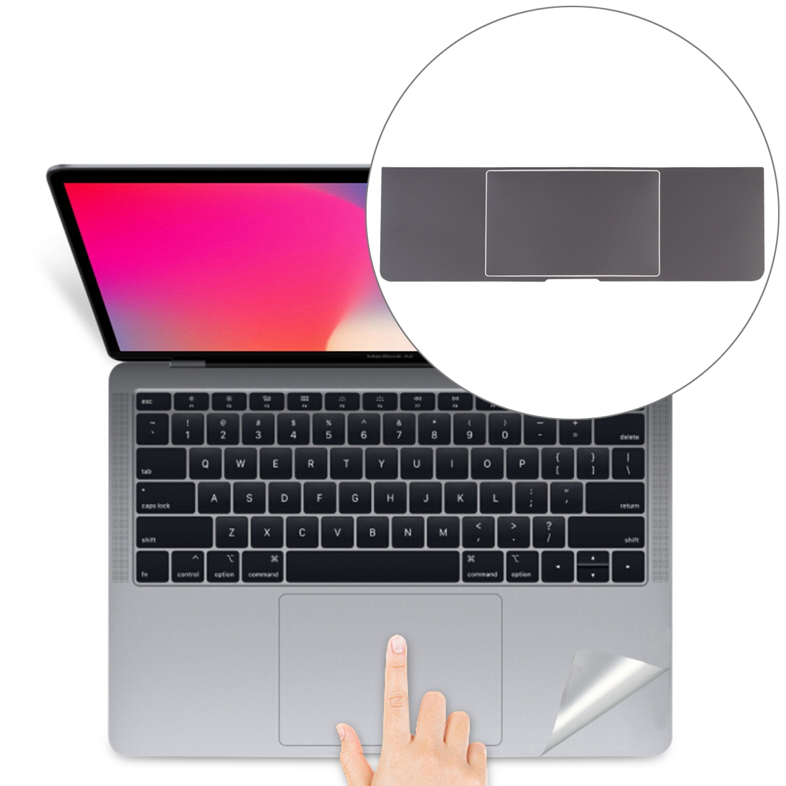 Palm & Trackpad Protector Sticker for MacBook Pro 15 with Touch Bar (A1707 / A1990) (Grey)