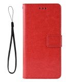 Crazy Horse Texture Horizontal Flip Leather Case for Motorola Moto G7 Power (EU Version) with Holder & Card Slots & Wallet (Red)