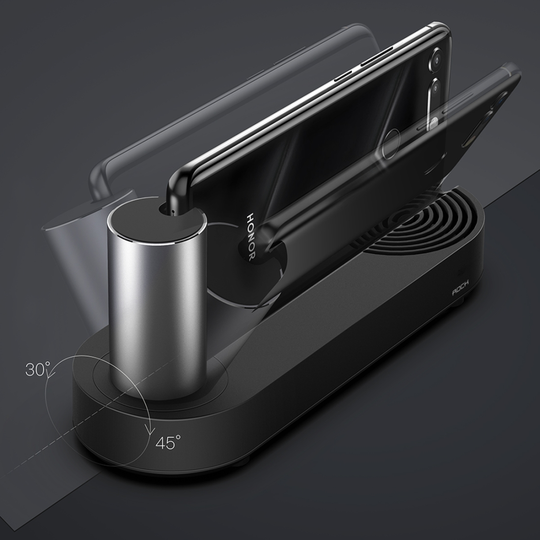 Rock USB-C / Type-C Expansion Base (Black)