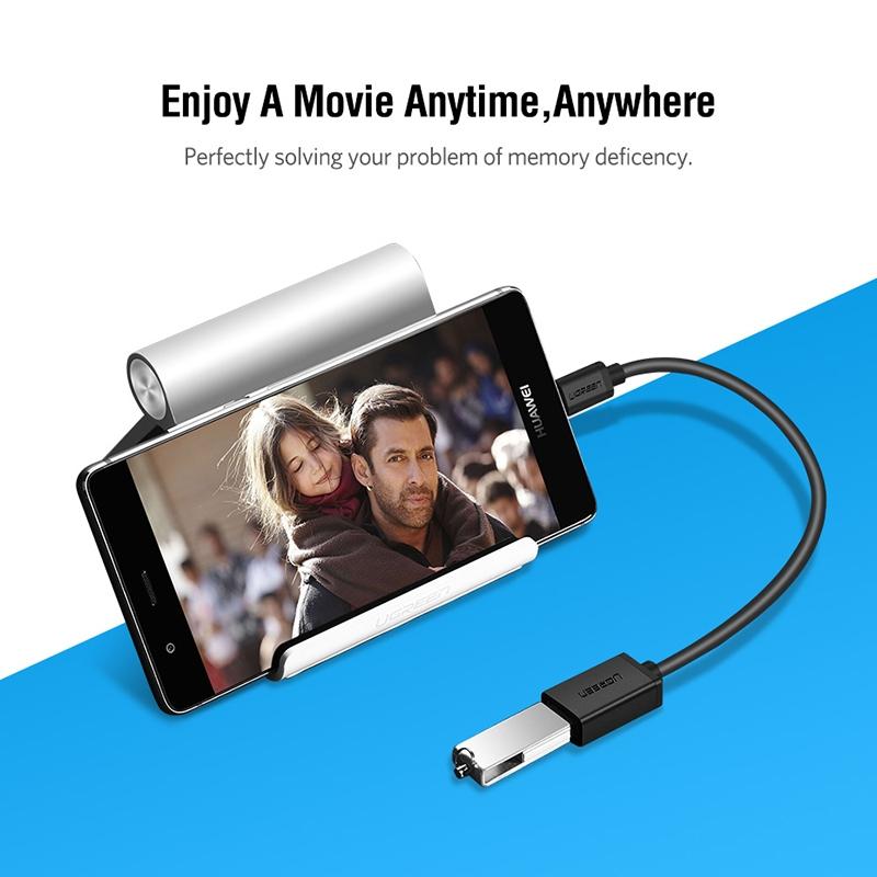 UGREEN 13cm USB 3.0 Female to USB-C / Type-C Male OTG Converter Adapter Cable (White)