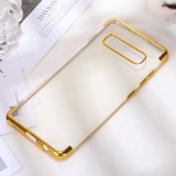 Three Sections Electroplating Side TPU Protective Back Case for Galaxy S10 (Gold)