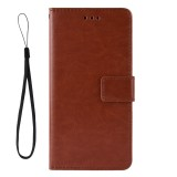 Retro Crazy Horse Texture Horizontal Flip Leather Case for Galaxy A20/A30 with Holder & Card Slots & Photo Frame (Brown)