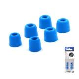 KZ 6 PCS Sound Insulation Noise Reduction Memory Foam Earbuds Kit for All In-ear Earphone, Size: L & M & S (Blue)