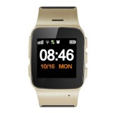 D99+ 1.22 inch HD LCD Screen GPS Smartwatch for the Elder Waterproof, Support GPS + LBS + WiFi Positioning / Two-way Dialing / Voice Monitoring / One-key First-aid / Wrist off Alarm / Safety Fence (Champagne Gold)
